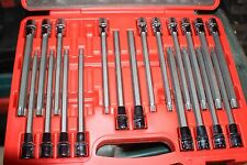 Sealey AK2197 TRX-Star/Spline/Hex/Ribe Socket Bit Set 22pc 1/2inSq Drive 200mm