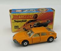 Matchbox Superfast No 56 BMC 1800 Pininfarina Orange Wide Wheels In Original Box