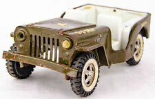 "Vintage 1970s Tonka 10"" Pressed Steel Army Commander Military Jeep G-2-2431"