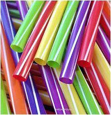 50  X FINEST QUALITY JUMBO SMOOTHIE/MILKSHAKE DRINKING  STRAWS   (8X240 MM)