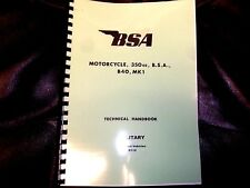BSA 350cc B40 Mk1 WD MODELS WORKSHOP MANUAL UK EDITION BW27 1963-71