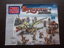 megabloks  Dragons-Iron raiders-Raiders ambush 9651 instruction manual