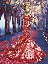 Eaki Sequin Mermaid Evening Silkstone Barbie Fashion Royalty Candi Dress Gown FR