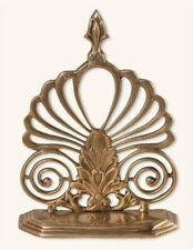 Victorian Trading Co Opulent Brass Flourish Book Ends 25D