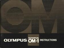 Olympus Om-1 Instruction Manual - English Edition