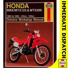[1132] Honda MBX125F MTX125RW MTX200RW 1983-93 Haynes Workshop Manual