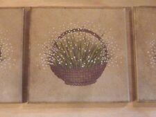 hübsche Kacheln mit Motiv Blumenkörbchen 53x Motivkacheln 10x10 Laufen