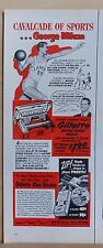 1951 magazine ad for Gillette - Minneapolis Lakers basketball George Mikan