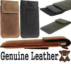 FLAP RIC WAIST POUCH WITH BELT LOOP GENUINE LEATHER CASE COVER FOR HUAWEI PHONES