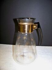 Corning Carafe Pyrex Starburst  6 Cup Coffee Tea Juice Glass Vintage Pitcher
