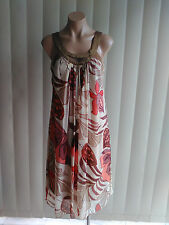 LOVERS DRESS 10 SLEEVELESS LUNCHEON, PARTY FLORAL MULTI COLOURED, LINED