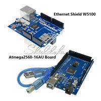 Mega2560 Atmega2560-16AU CH340G UNO R3 Board W5100 Ethernet Shield