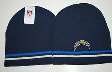 San Diego Chargers NFL Team Apparel Cuffless Striped Knit Hat/Beanie/Toque