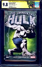 Immortal Hulk #1 TURKISH GLOW IN DARK VARIANT CGC SS 9.8 signed Yildiray Cinar