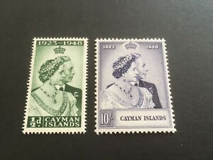 CAYMAN ISLANDS - 1948 Royal Silver Wedding - SG Nos 129/30- LIGHTLY MOUNTED MINT