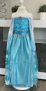 Brand New - Girl's Blue Princess Dress/Costume/Dress up with Princes Elsa Badge