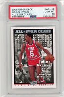 2008 Upper Deck ALL STAR Class #AS-JE JULIUS ERVING HOF PSA 10 Graded 76ers