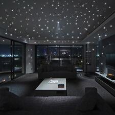 2xWall Stickers 407Pcs Round Dot Luminous Kids Room Decor Glow In The Dark Star