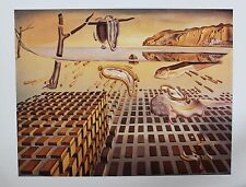 Salvador Dali Lithograph Poster Disintegration of the Persistence of Memory 1997