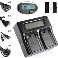 LCD Dual Battery Charger F EN-EL14 a Nikon D5500 D5200 D3200 D3100 COOLPIX P7800