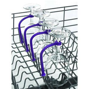 4Pcs Adjust Silicone Wine Glass Dishwasher Goblet Holder Safer Stemware Saver