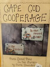 """Cape Cod Cooperage """"Home Sweet Home/In the Gardens"""" Signs, Susan Saunders, #129"""