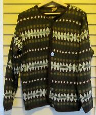 Vintage ~ West Germany ~ Gold-Strick ~ Wool Norwegian Sweater / Cardigan Merino