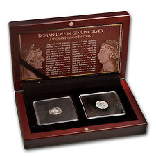 Roman Love 2-Coin Genuine Silver Pius and Faustina I Set - SKU #71987