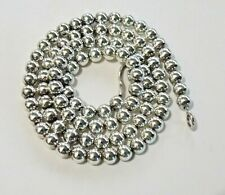STERLING SILVER 925 ROUND ~5MM BALL BEAD NECKLACE