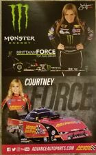 Courtney and Brittany Force Handout NHRA JFR Free Shipping