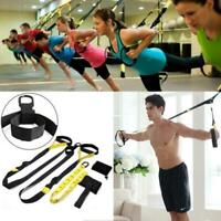 Home Gym Suspension Resistance Strength Training Straps Workout Trainer 1300lbs