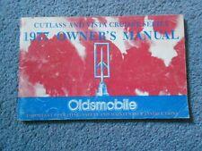1977 OLDSMOBILE CUTLASS & VISTA CRUISER SERIES OWNER'S MANUAL ORIGINAL OEM