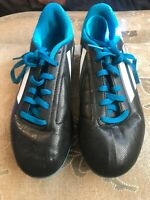 Adidas Youth Cleats Size 4 Soccer Shoes with TRX FG Cleats Blue Black
