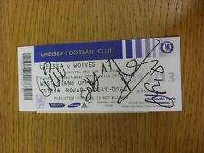 25/09/2012 Autographed Ticket: Chelsea v Wolverhampton Wanderers [Football Leagu