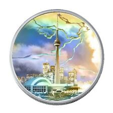 """2006 ROYAL CANADIAN MINT """"ARCHITECTURAL TREASURES CN TOWER"""" $20 FINE SILVER COIN"""