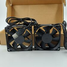 """NEW Dual 80MM Double Ball Bearing USB Case Fan with 24"""" USB Wire 1500rpm 5v"""