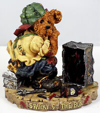 Boyds Bearstone Figurine, Sparky & The Box, #227716, New