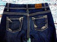 7J- Buckle BKE Denim Women's Jeans Blue Payton Boot Dark Wash Size 28R (28x31)