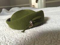 Beautiful Vintage Green Hat