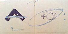 Tapies Antoni Lithographie originale angle et signes 1980 Abstraction lyrique