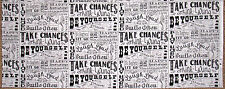 RJR The Chalk Line Collection Be Yourself Phrases Cotton Fabric RJR #2129 Panel