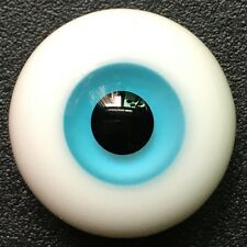 14mm BJD Glass Eyes Sky Blue Flat Base for 1/4 bjd dolls 1 Pair