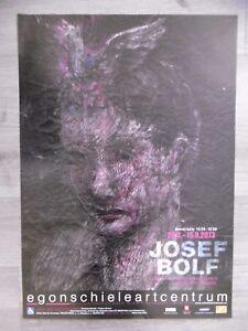 BOLF Josef Original poster 2013 Tchèque Prague Cesky Krumlov Portrait Femme art