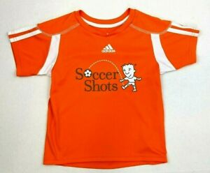 Adidas Boys Girls Soccer Quick Dry SS Athletic T-Shirt - Orange - Youth Size S