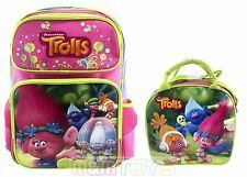 "Dreamworks Trolls Poppy  16""  School Backpack + Insulated Lunch Bag 2pc Set"