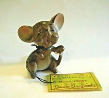Cute Vtg Joseph Originals Mouse Village Troubles Figurine Japan with Tag
