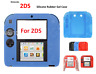 BLUE-Silicone Soft RUBBER BUMPER Gel Skin Case Cover For Nintendo 2DS Game