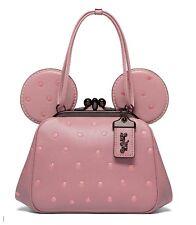 COACH Dusty Rose Minnie Mouse Pink Gunmetal Limited Edition1941 Bag Handbag New