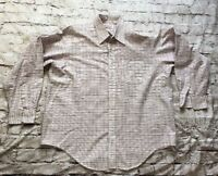 Orvis Men's Long Sleeve Plaid Button Down Shirt Size XL