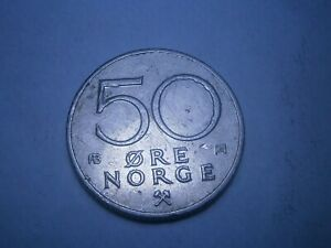 50 ORE NORGE 1979 - NORWAY VINTAGE COIN KRONER - EUROPE CIRCULATED -FREE POSTAGE